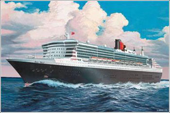 Queen Mary 2 1:1200 modelset
