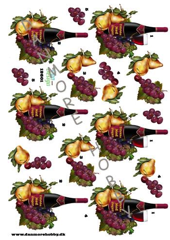 e9f87e3750b8 3D A4 rødvin med vindruer