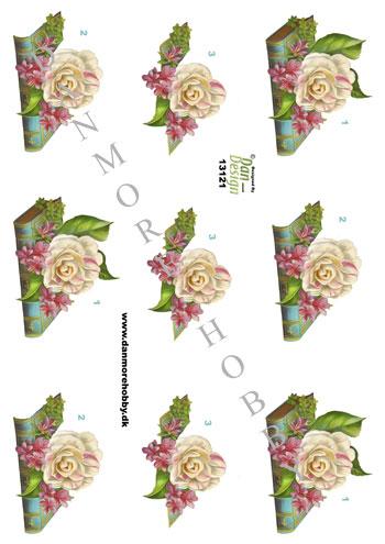 11d1578ce504 3D ark bibel med blomst