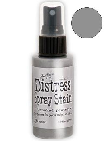 Dist Spray Stain - brushed pewter 2oz