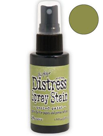 Dist Spray Stain - peeled paint