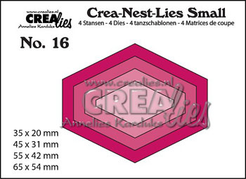 Dies Crealies Crea-Nest-Lies Small 16 CN