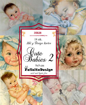 Toppers 9x9cm 18stk Cute babies 2