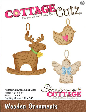 Dies CottageCutz CC-528 Wooden Ornaments