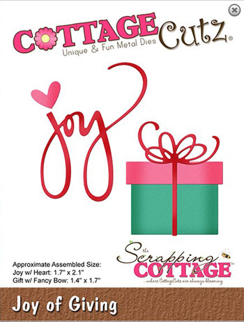 Dies CottageCutz CC-523 Joy gave